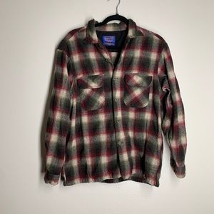 PENDLETON Vintage wool plaid flannel button shirt